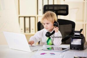 vaikas verslininkas
